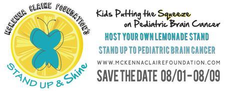 MCF Stand Up & Shine 2015   LEMONADE STANDS   AUG 01-09