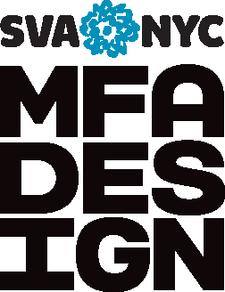 SVA MFA Design: The Designer as Author + Entrepreneur logo