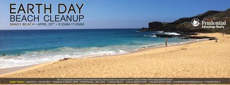 EARTH DAY BEACH CLEANUP AT SANDY BEACH