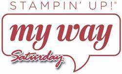 MyWay Stamping Saturday - August 2015