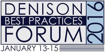 Denison Best Practices Forum 2016