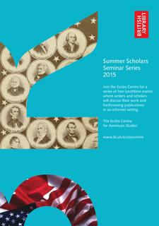 Eccles Centre Summer Scholars Series 2015 logo