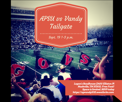 APSU vs Vanderbilt Pre-Game Tailgate RSVP