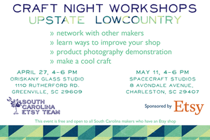 South Carolina Etsy Team Craft Night Workshop