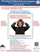 Bad Credit Housing Event on August 22, 2015