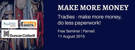 Tradies - Make more money, do less paperwork!