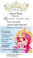 "BEAUTY PAGEAT SHOW  ""BEAUTY AS A PRINCESS"""