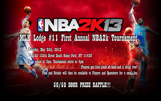 MLK Lodge # 11 First Annual NBA 2K Tournament