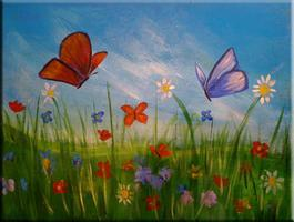 Butterfly Garden Painting Soiree