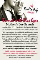 Brunch With Blue Eyes - A Mother's Day Brunch Buffet