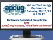 APCUG's 2015 Summer Virtual Technology Conference