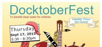 Oktoberfest on the Dock to benefit clean water for chil...
