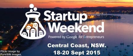 Startup Weekend Central Coast 18-20 Sept 2015
