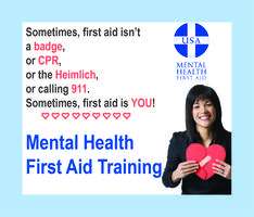 Mental Health First Aid Training (11/9/15 & 11/10/15)