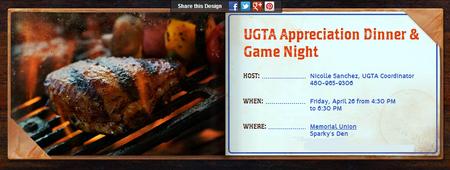 UGTA Appreciation Dinner & Game Night