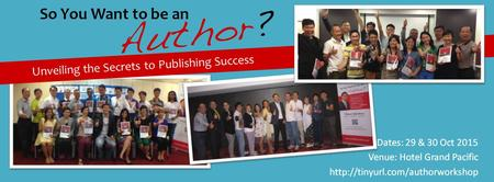 So You Want to be an Author?