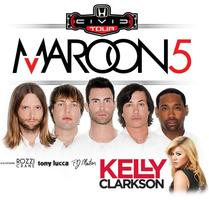 Maroon 5 & Kelly Clarkson Concert Bus w/ @ChiPartyBus