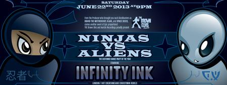 INFINITY INK- UK CROSSTOWN REBELS - NINJAS VS ALIENS COSTUME...