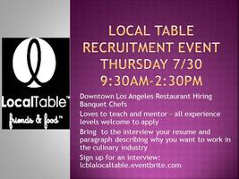 Local Table Recruitment Event