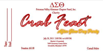DELTA SIGMA THETA, POTOMAC VALLEY ALUMNAE CHAPTER, INC CHARITY...