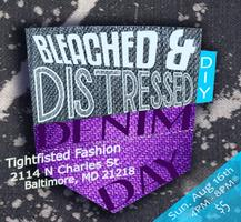 DIY Day: Bleach and Distress Your Denim!