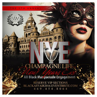 "New Years Eve 2016 CHAMPAGNE LIFE: ""All Black..."