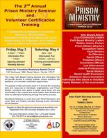 2nd Annual Prison Ministry Seminar and Volunteer...