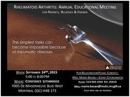 Rheumatoid Arthritis: Annual Educational Meeting for...