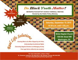 MBC's Public Policy Ministry Presents 'Do Black Youth...