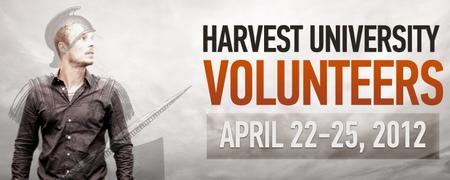 Harvest University 2012 - Volunteers