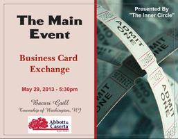 The Main Event - Business Card Exchange