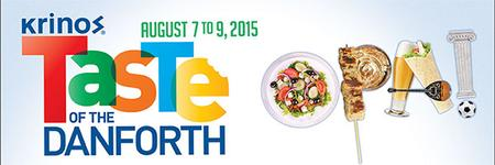 Taste of the Danforth. Friday August 7th, 2015 (Free)