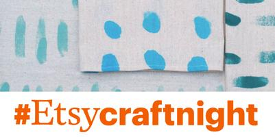 Etsy Craft Night: Hand Painted Tea Towels with Anna...