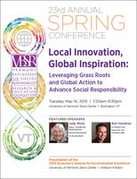 VBSR's 2013 Spring Conference - Local Innovation, Global...