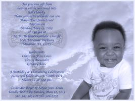 Mason Ever Jean-Louis' Baptism & Birthday Celebration