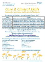 & Clinical Skills ~ (WBCH, Newbury) Training for Care...