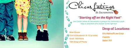 "Chicas Latinas' Back-to-School Shoe Drive ""Starting..."