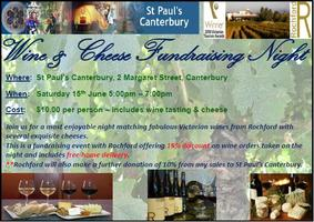 St Paul's Canterbury Wine and Cheese Tasting