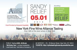New York Fine Wine Alliance Tasting for Sandy Relief