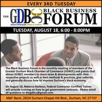 The Black Business Forum | 3rd Tuesdays | August 18 |...