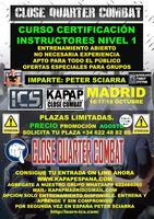 CURSO INSTRUCTOR ICS NIVELES 1 / 2 CON PETER SCIARRA