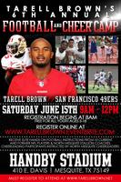 Tarell Brown's 6th Free Annual Football & Cheer Camp