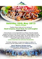STAND TOGETHER FOR ORPHANS - FREE CHARITY DINNER
