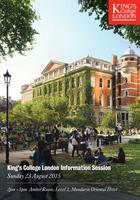 King's College London - Information Session - 23 Aug...
