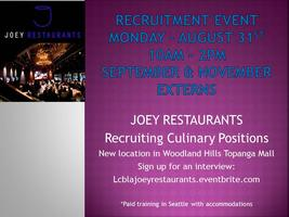 Joey Restaurants Recruitment Event