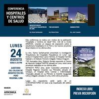 """CONFERENCIA Y CONVERSATORIO """"HOSPITALES Y CENTROS DE..."""