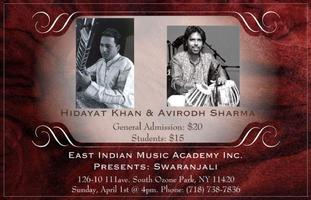 Swaranjali - Hidayat Khan (Sitar) and Avirodh Sharma...