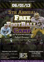 The Jahri Evans Foundation 5th Annual FREE Youth Football Camp
