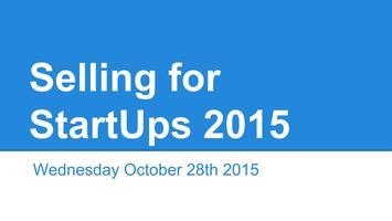 Selling for Start Ups 2015
