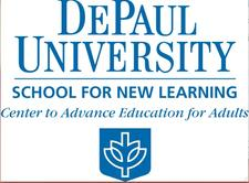DePaul University, School for New Learning, Center to Advance Education for Adults logo